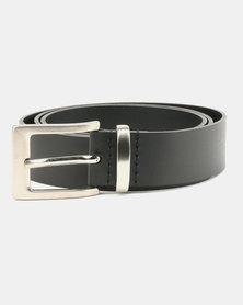 Wembley Connor Boneded Leather Belt Black