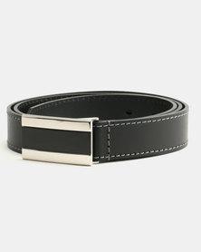 Wembley Jack Bonded Leather Belt Black