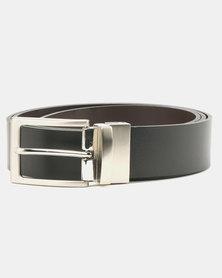 Wembley Arthur Reversible Bonded Leather Belt Black/Brown