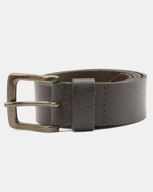 Wembley George Split Leather Belt Brown