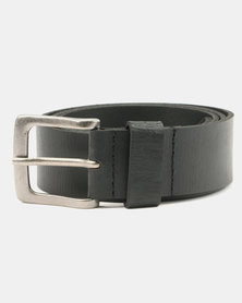 Wembley George Split Leather Belt Black