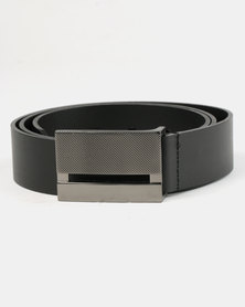 Wembley Jason Bonded Leather Belt Black