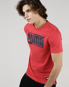 Puma Sportstyle Core Athletics Tee Red