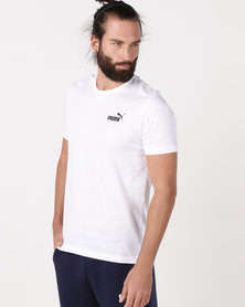 Puma Sportstyle Core Ess Small Logo Tee White