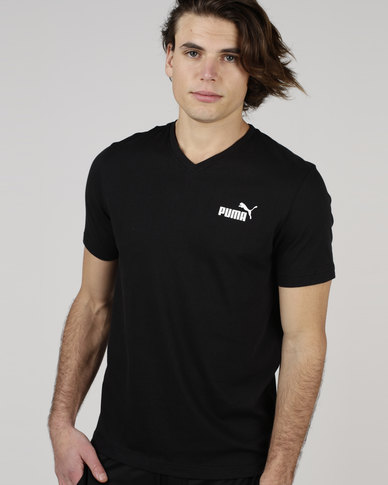 Puma Sportstyle Core Essential V-Neck Tee Black