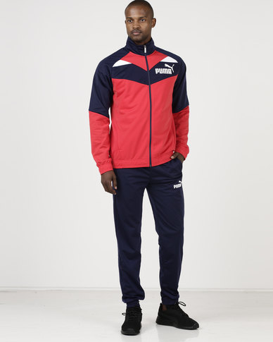 Puma Sportstyle Core Iconic Tricot Suit Navy/Red