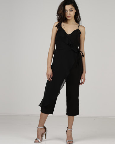 Utopia by Robyn-Leigh Ruffle Jumpsuit Black