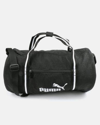 1689494921 Puma Womens Core Barrel Bag Black