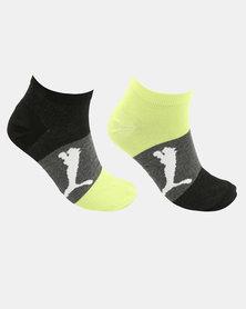 Puma 2 Pack Mens Bold Sneaker Socks Multi
