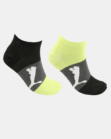 Puma 2 Pack Mens Bold Sneaker Socks Multi