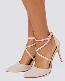 Forever New Emily Pointed Cross Strap Courts Pink