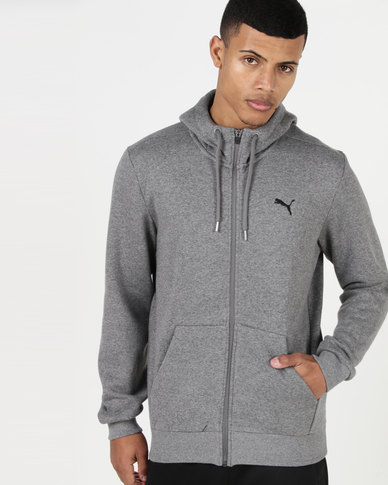 Puma Sportstyle Core ESS FZ Hoodie FL Medium Grey Heather
