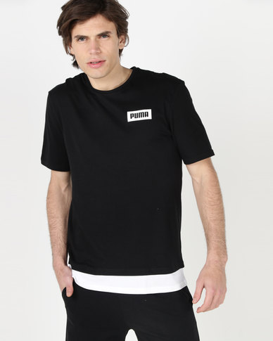 Puma Sportstyle Core Rebel Tee Cotton Black