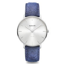 Lambretta Mens Watch With Silver Destresso Blue