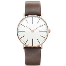 Lambretta Mens Watch With Rose Gold White Brown