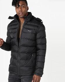 K7Star Hooded Puffer Jacket Black