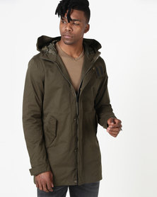 K7Star Twill Fashion Parka Military Green