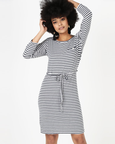 Utopia Stripe T-Shirt Dress Blue/Grey
