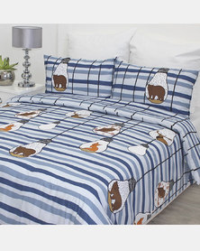 Sheraton Woodland Duvet Cover Set Blue