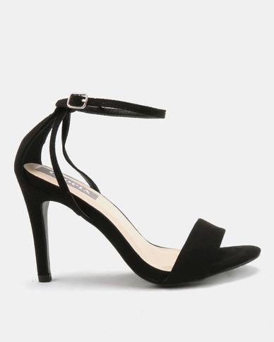 77a1f2e17 Utopia Strappy Heeled Sandals Black | Zando