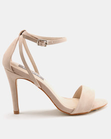 Utopia Strappy Heeled Sandals Nude