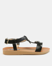 Utopia Fabric Block Sandals Black