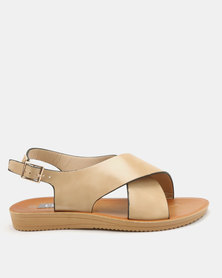 Utopia Cross Strap Sandals Nude