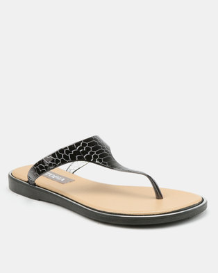 e76663ced9c5d5 Utopia Jelly Thong Sandals Black