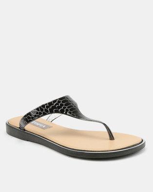 de73d383c Utopia Jelly Thong Sandals Black