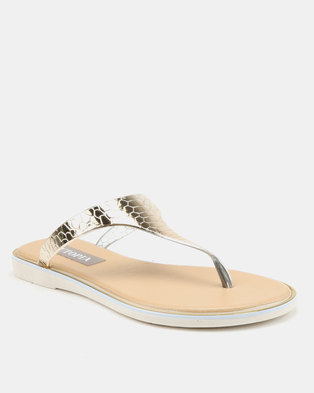 46fe51f1260c0d Utopia Jelly Thong Sandals Gold