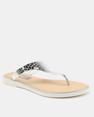 245aff3cd683d3 Utopia Jelly Thong Sandals Silver