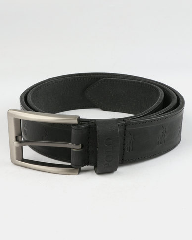 Polo Romeo Leather Belt Black
