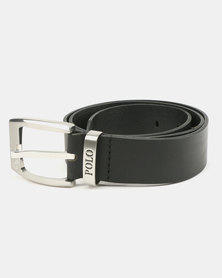 Polo Swazi Leather Belt Black