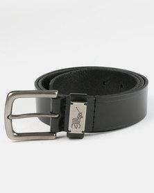 Polo Jacob Leather Belt Black
