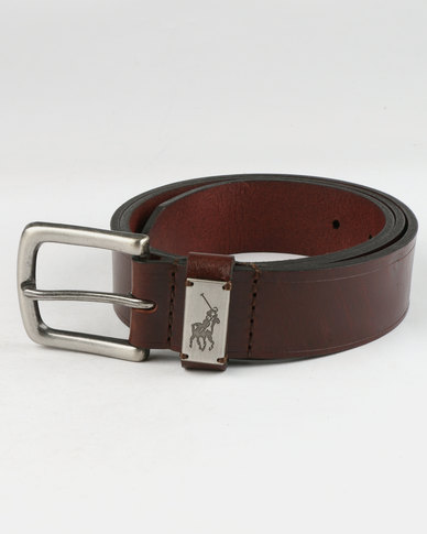 Polo Jacob Leather Belt Brown