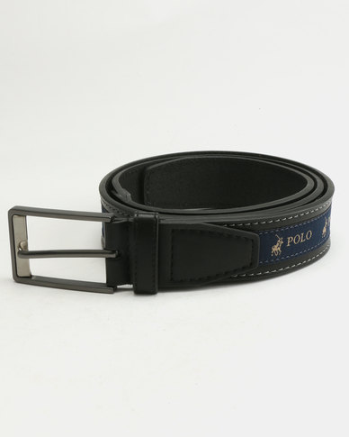 Polo Lorenzo Leather Belt Black
