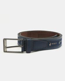 Polo Lorenzo Leather Belt Blue