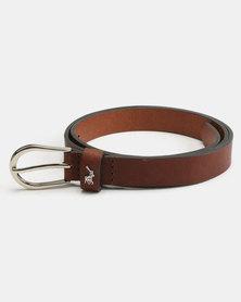 Polo Zoe Leather Belt Chestnut