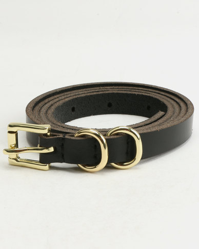 Polo Thelma & Louise Leather Belts Black/Cognac