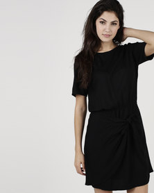 Bukamina Belted Shift Dress Black