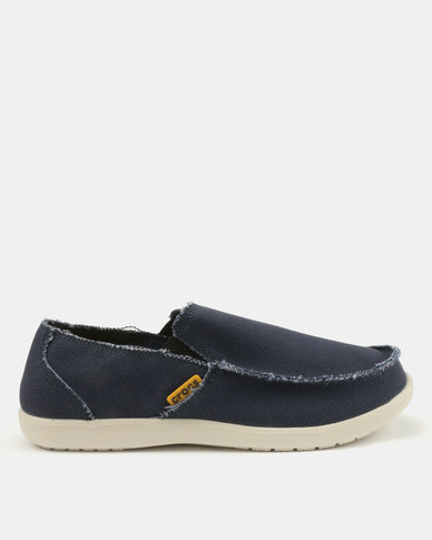 6317965da81 Crocs Santa Cruz Mens Loafers Navy Stucco