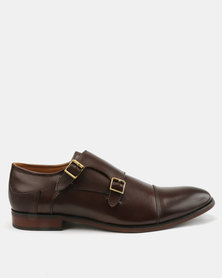 Steve Madden Hayward Leather Shoes Brown