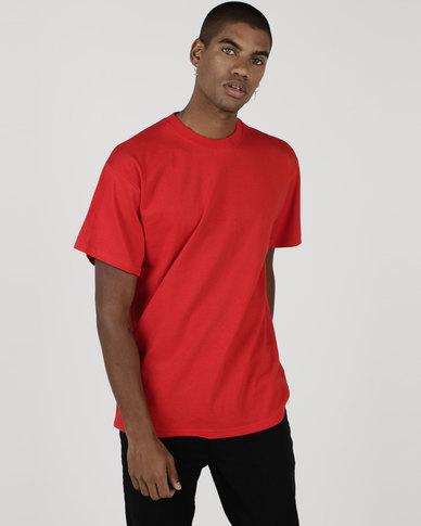 6c677eda Fruit of the Loom Heavy Cotton T-Shirt Red   Zando