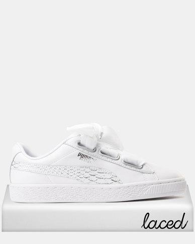 new concept 95a7e daa06 Puma Basket Heart Oceanaire Sneakers Puma White - Puma White