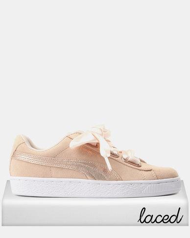 online store e4f1a 331f0 Puma Suede Heart LunaLux Sneakers Cream/Tan