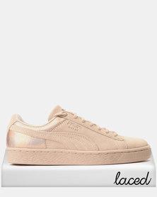 Puma Suede LunaLux Sneakers Cream Tan