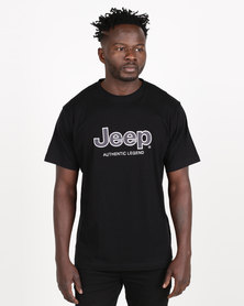 Jeep Twill Applique Tee Black