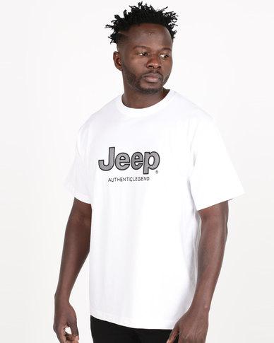Jeep Twill Applique Tee White