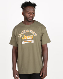 Jeep Twill Applique Tee Olive