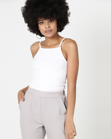 New Look Square Neck Cami White